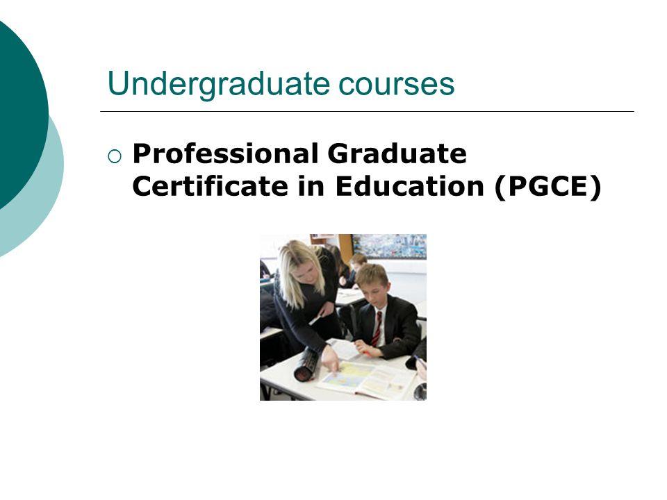 Undergraduate courses  Professional Graduate Certificate in Education (PGCE)