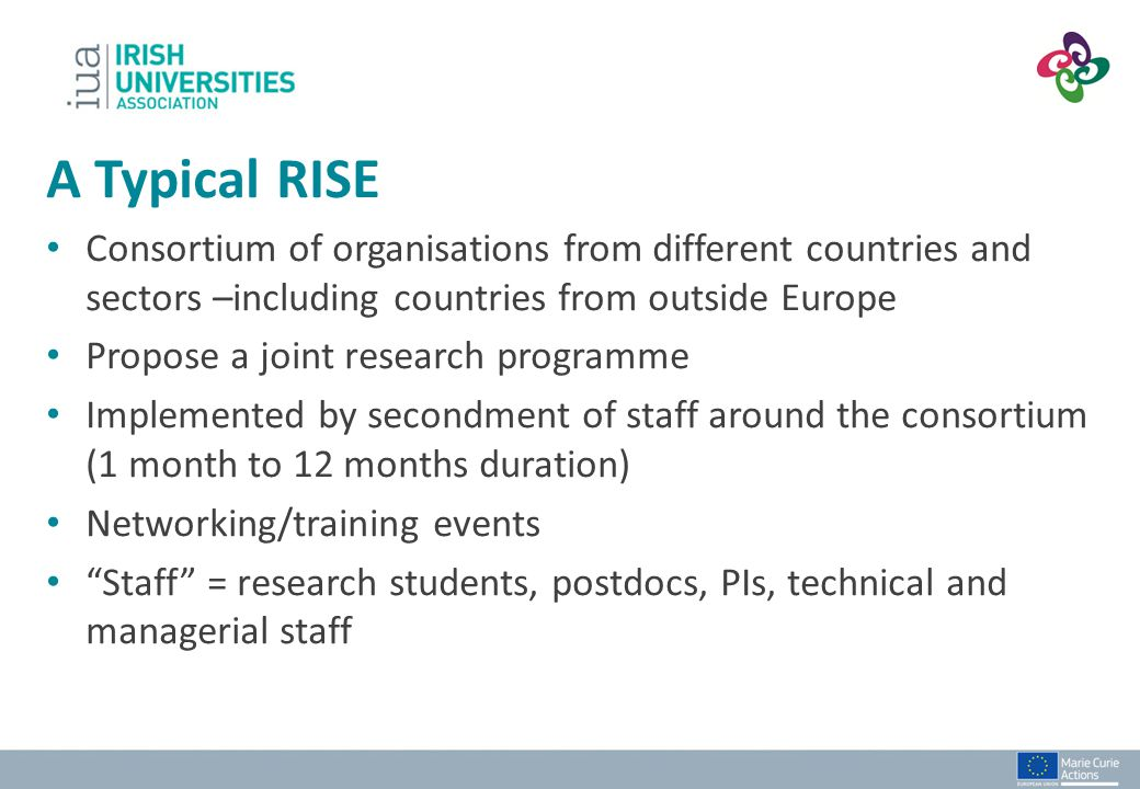 Example 2: International Consortium Chilean University UK University German NGO Polish University