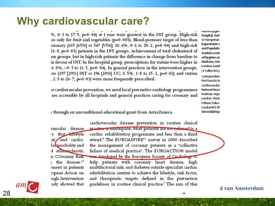 28 Why cardiovascular care