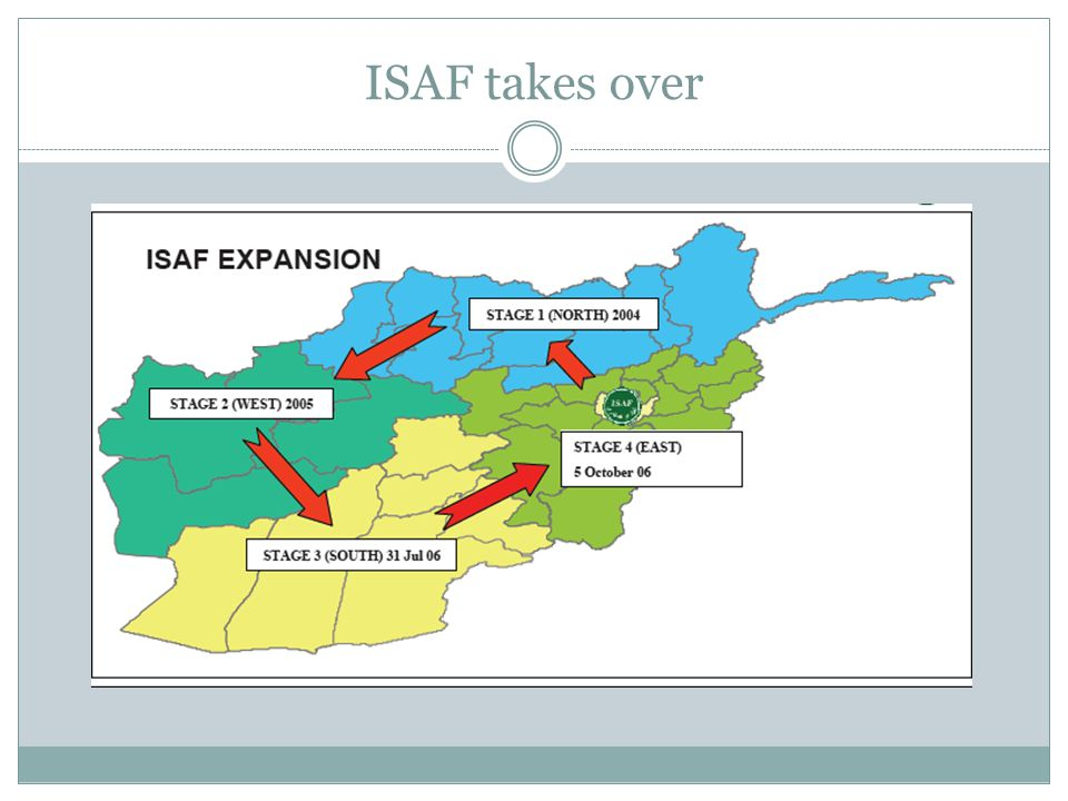 ISAF takes over