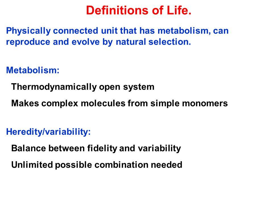 Chemoton: The Simplest Organism (Tibor Ganti, 1970, from Ganti, 1997) Y – Waste, X – nutrient V' – monomer of genetic material, pV i – polymer T' – precursor of membranogenic molecule.