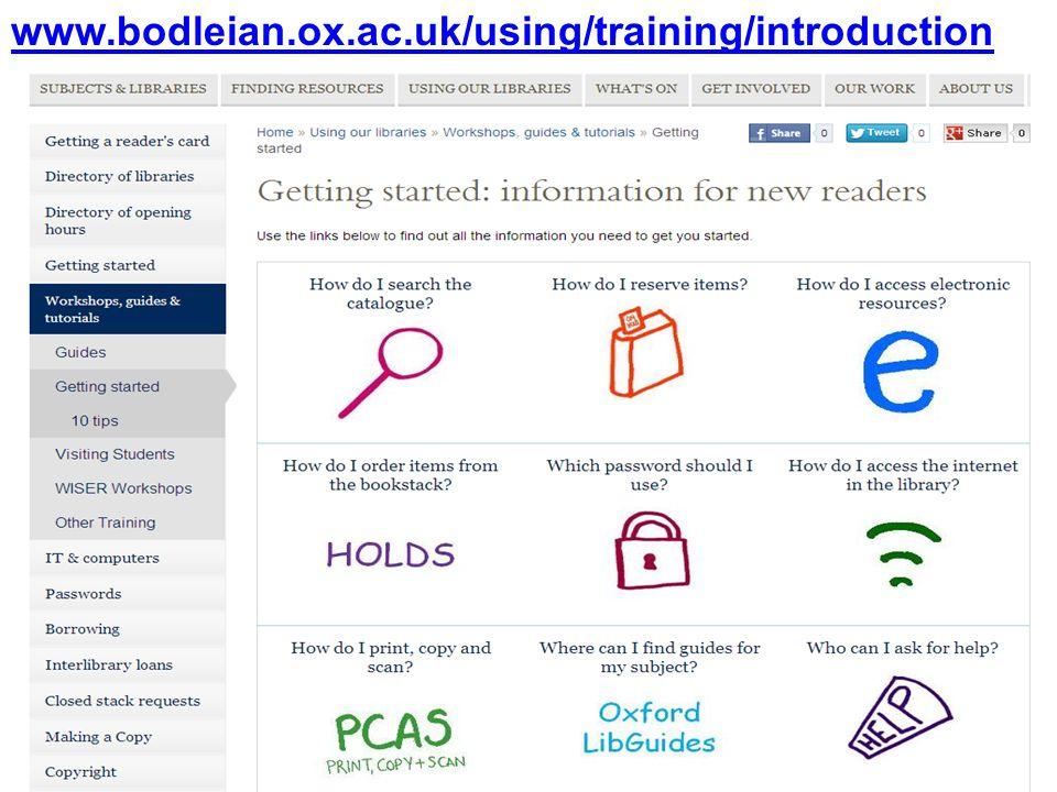 www.bodleian.ox.ac.uk/using/training/introduction