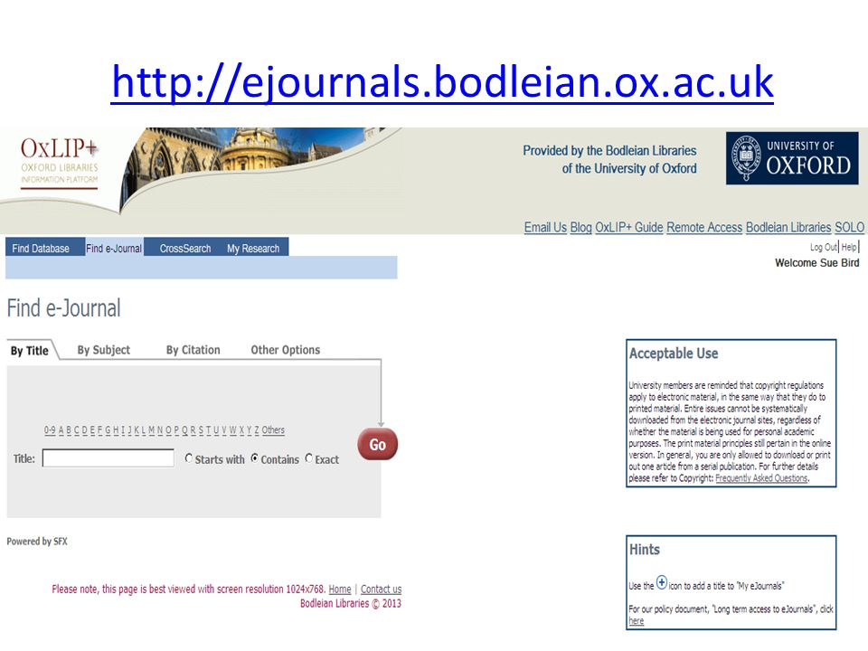 http://ejournals.bodleian.ox.ac.uk