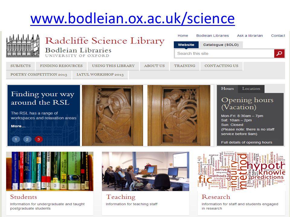 www.bodleian.ox.ac.uk/science