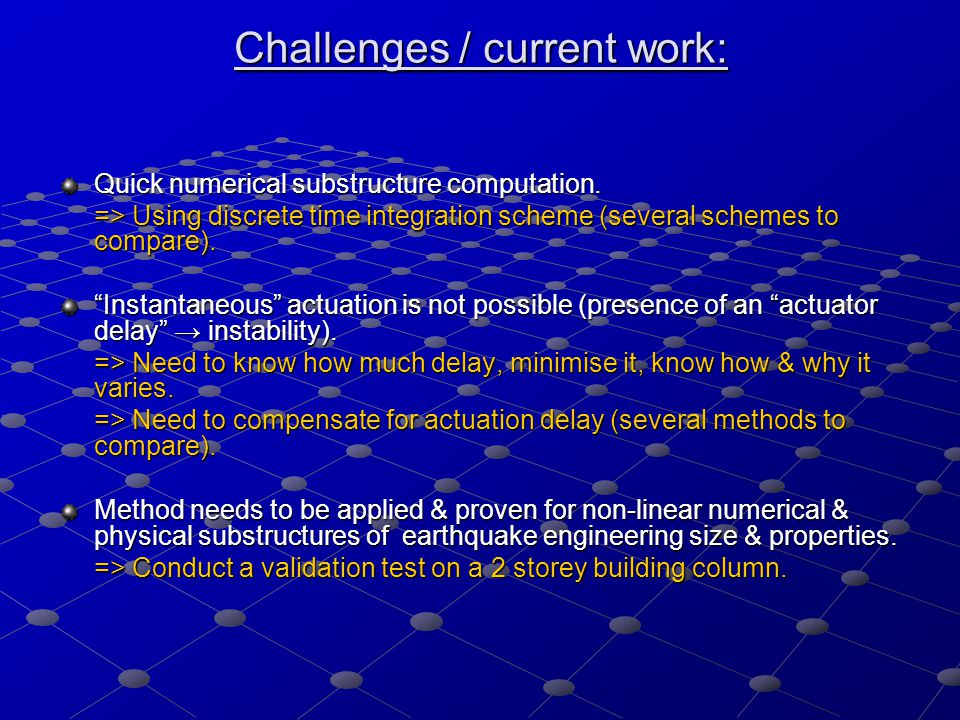 Challenges / current work: Quick numerical substructure computation.