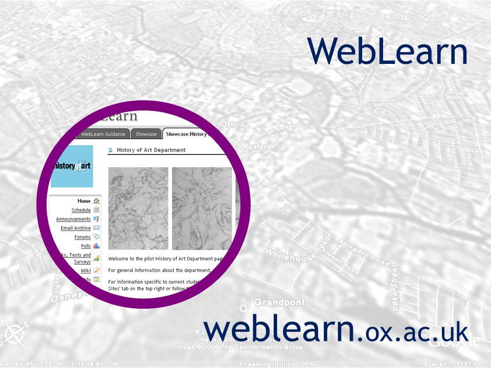 WebLearn weblearn.ox.ac.uk