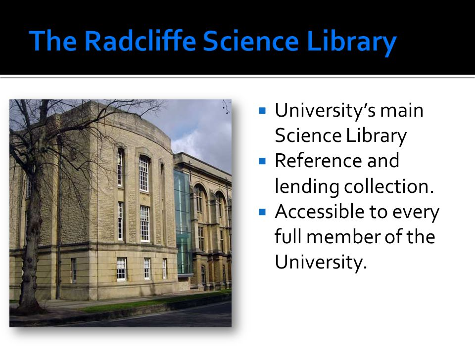  University's main Science Library  Reference and lending collection.