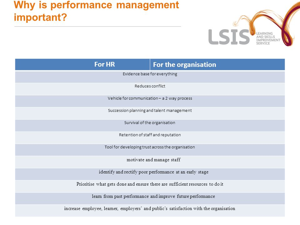 Why is performance management important.