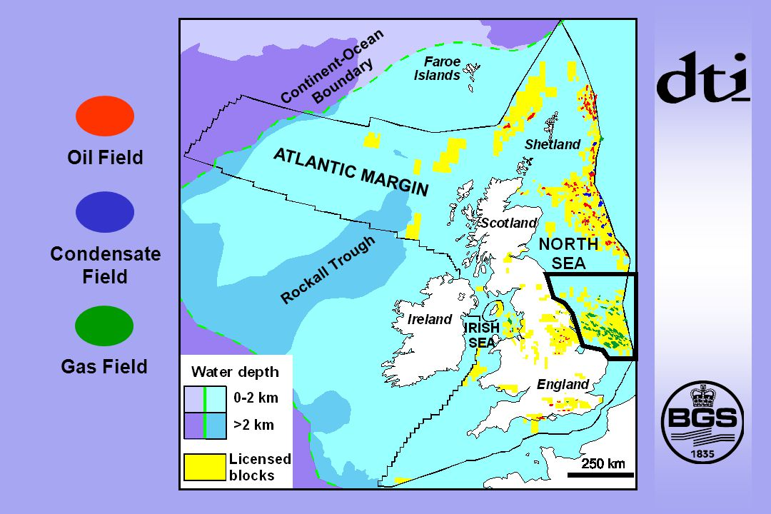 Oil Field Condensate Field Gas Field Continent-Ocean Boundary Rockall Trough ATLANTIC MARGIN