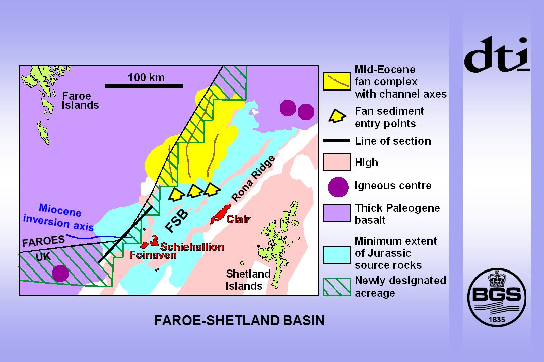 FAROE-SHETLAND BASIN Miocene inversion axis Rona Ridge FSB FAROES UK