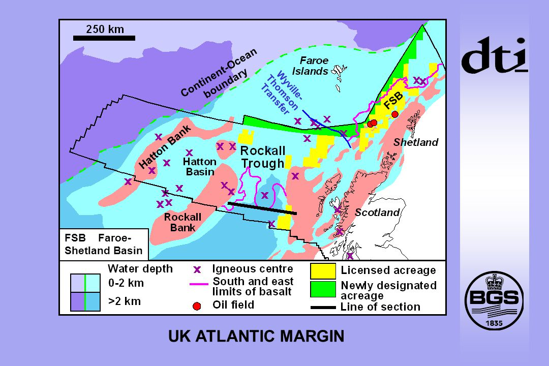 UK ATLANTIC MARGIN Continent-Ocean boundary Hatton Bank Wyville- Thomson Transfer FSB FSB Faroe- Shetland Basin
