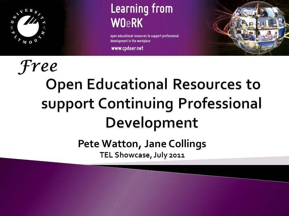 Pete Watton, Jane Collings TEL Showcase, July 2011 Free