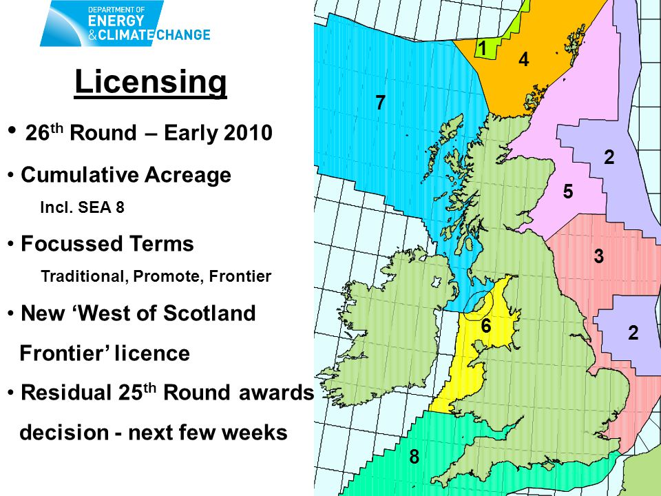 Licensing 26 th Round – Early 2010 Cumulative Acreage Incl.