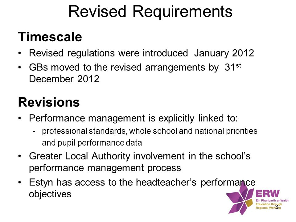 Purpose of Performance Management 'Performance management helps schools to improve by supporting and improving the work of head teachers as individuals and leaders of school teams.