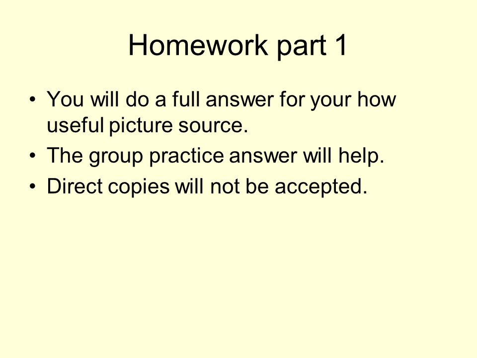 Homework part 1 You will do a full answer for your how useful picture source.