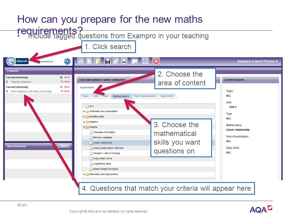 25 of x How can you prepare for the new maths requirements.
