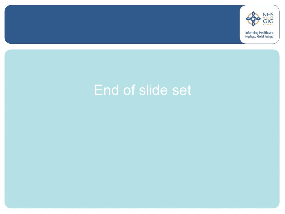 End of slide set