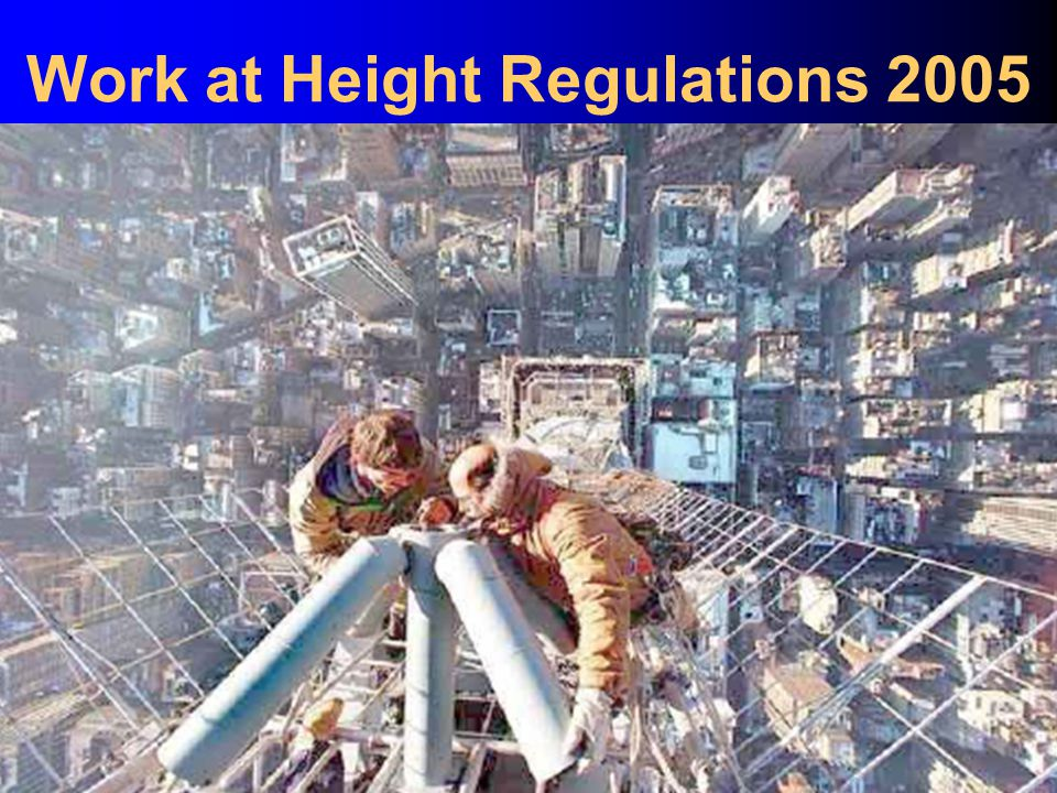 Hansen – Managing Safely Work at Height Regulations 2005