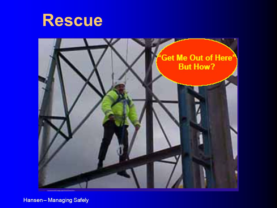 Hansen – Managing Safely Rescue