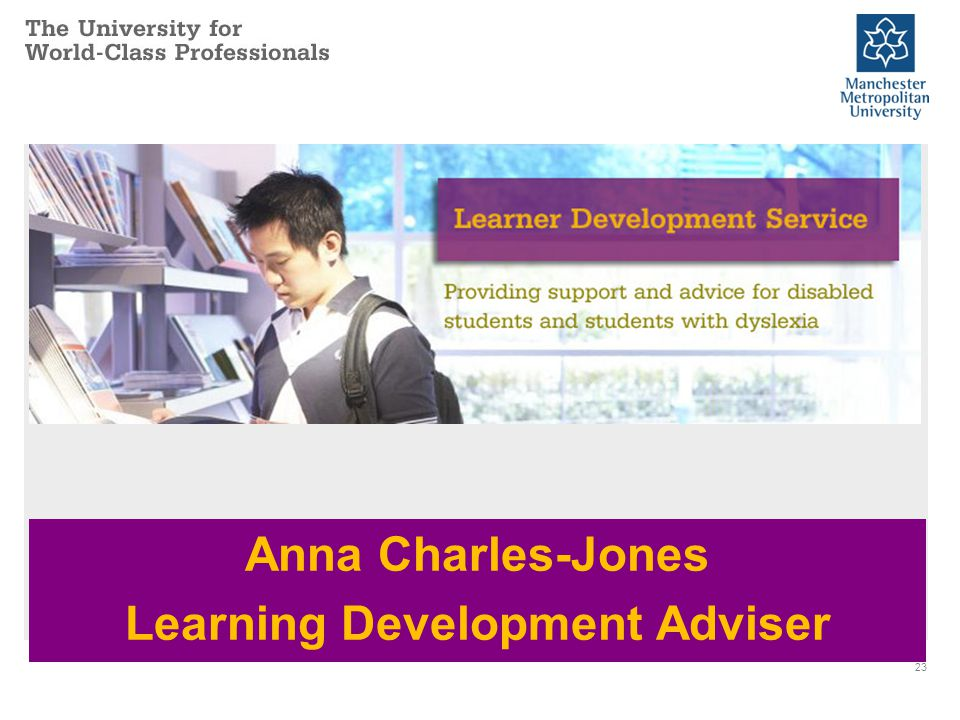 23 Anna Charles-Jones Learning Development Adviser