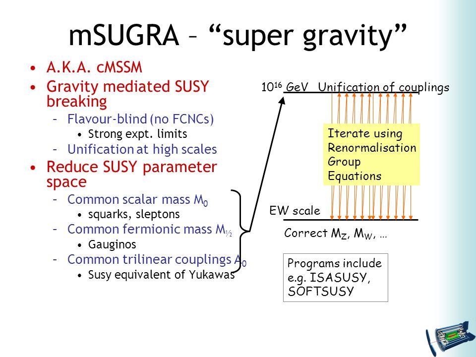 mSUGRA – super gravity A.K.A.