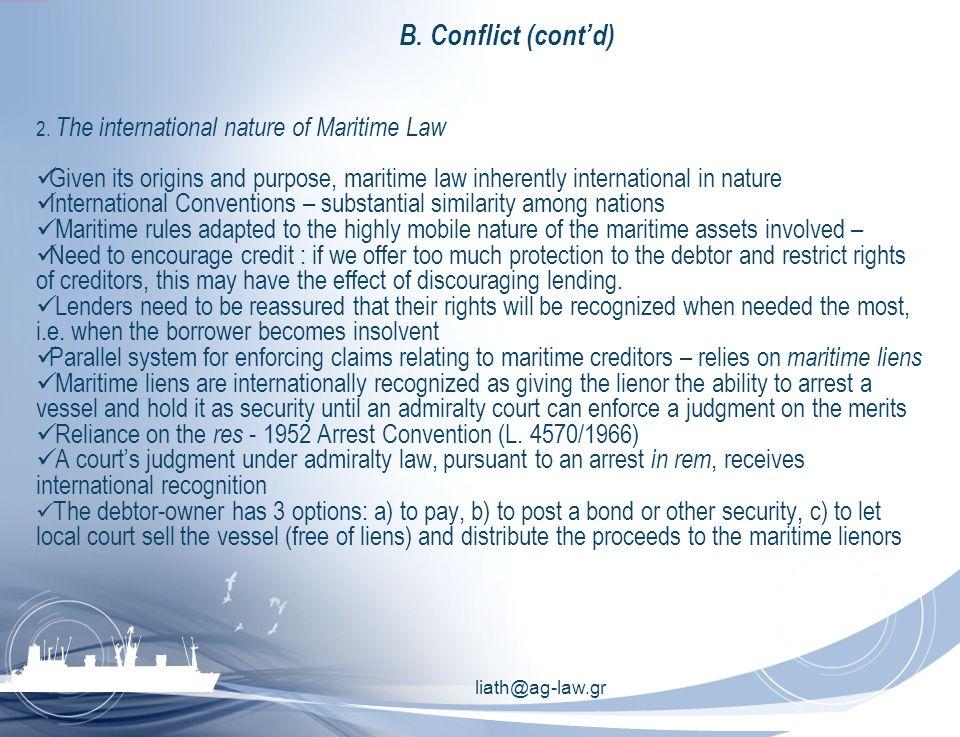 liath@ag-law.gr B. Conflict (cont'd) 2.