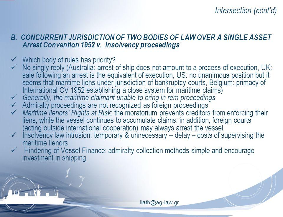 liath@ag-law.gr Intersection (cont'd) B.