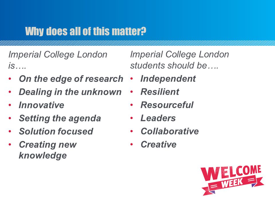 Why does all of this matter. Imperial College London is….