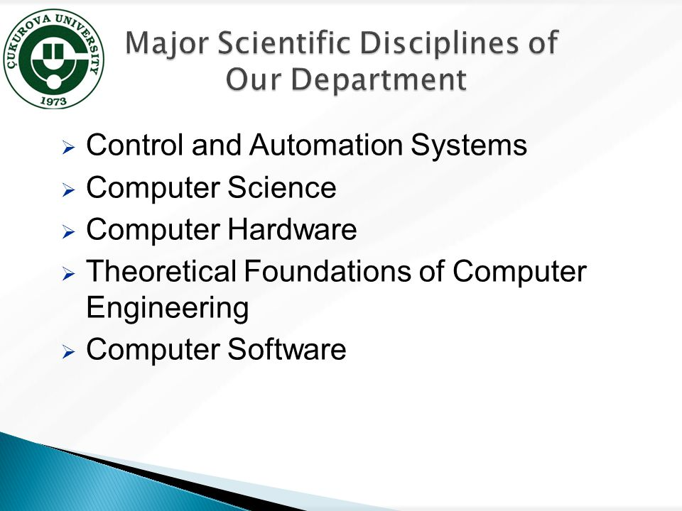  Control and Automation Systems  Computer Science  Computer Hardware  Theoretical Foundations of Computer Engineering  Computer Software