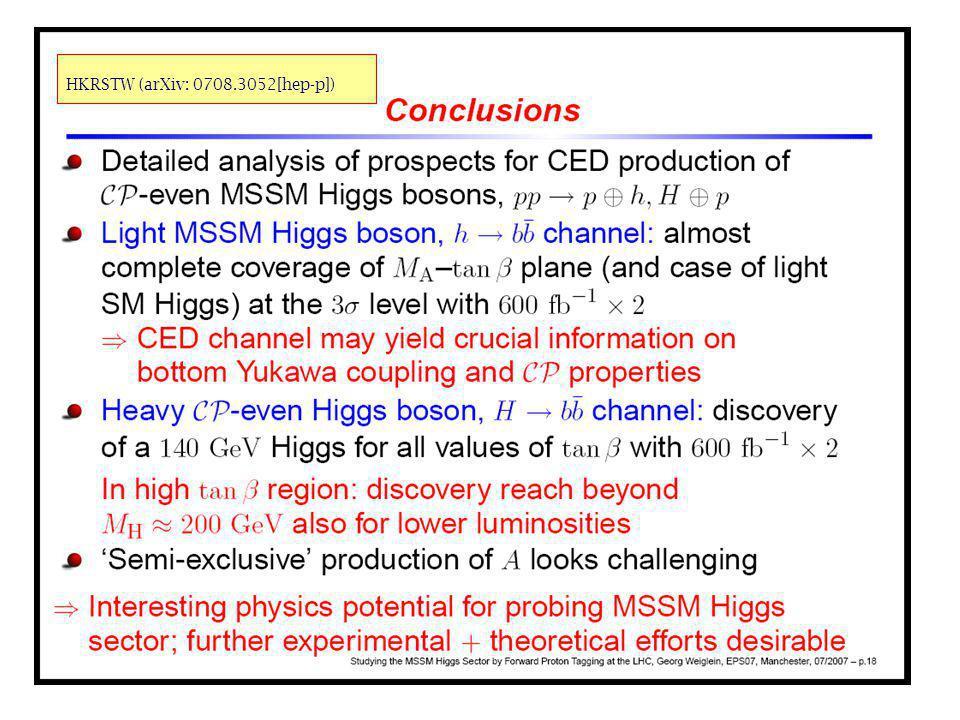 34 HKRSTW (arXiv: 0708.3052[hep-p])