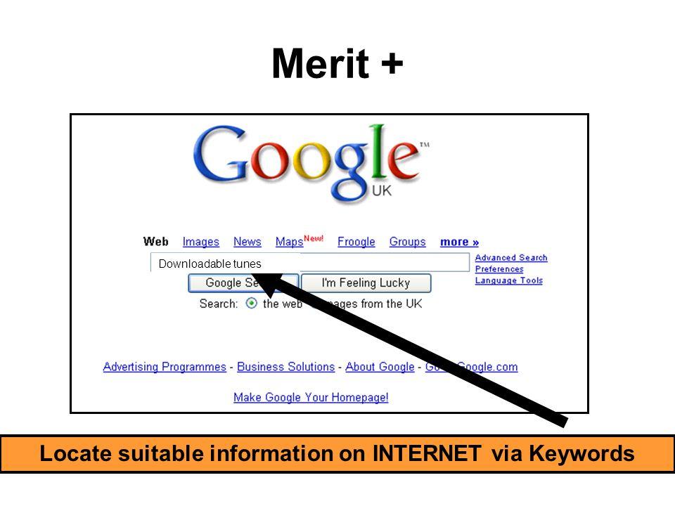Merit + Locate suitable information on LOCAL MEDIA via Keywords