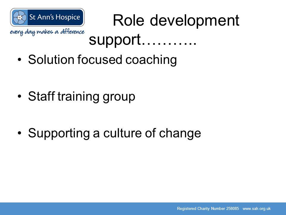 Role development support………..