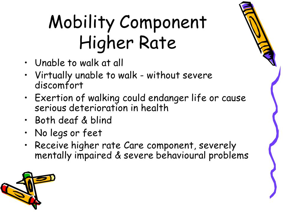 Virtually unable to walk Ability to walk is limited due to: The distance over which, or The speed at which, or The length of time for which, or The manner in which You can make progress on foot without severe discomfort