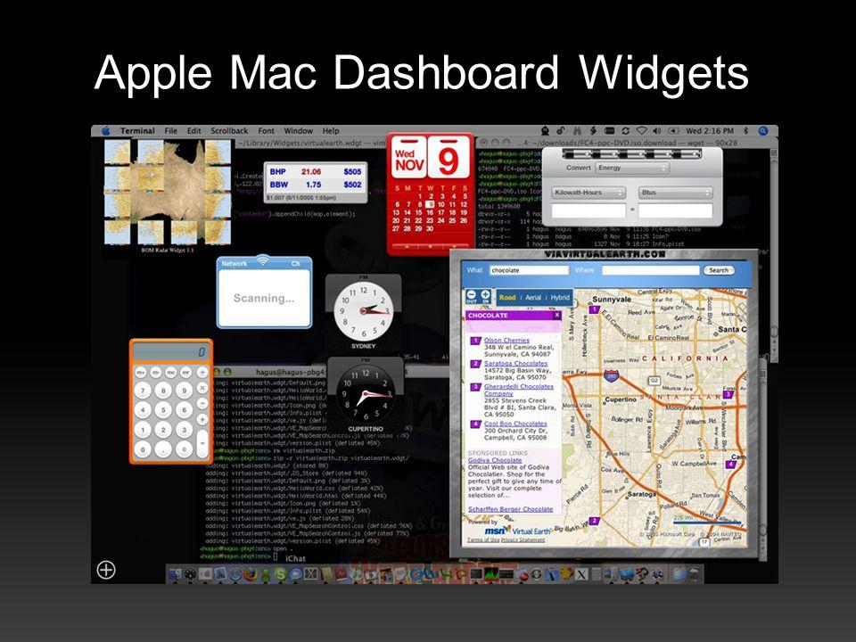 Apple Mac Dashboard Widgets