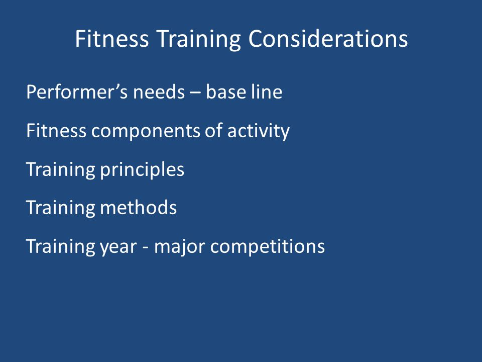 Fitness Questions - Exams What is it? When do I use it? How do I test it? How do I improve it?
