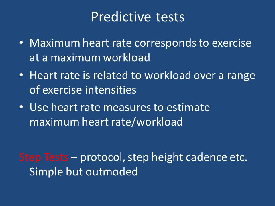 Physiological tests Heart Rate Pulse taking is cheap and simple Pulse meter more accurate and less distracting; doesn't require performer to stop Resp