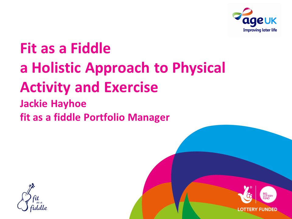 Fit as a Fiddle a Holistic Approach to Physical Activity and Exercise Jackie Hayhoe fit as a fiddle Portfolio Manager