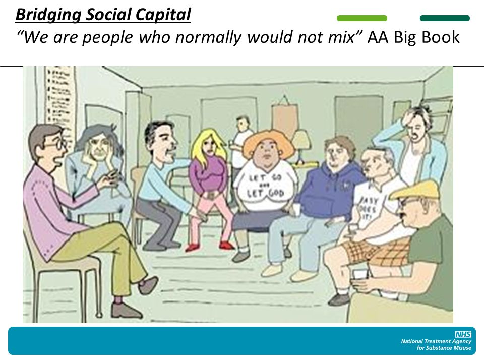 Bridging Social Capital We are people who normally would not mix AA Big Book