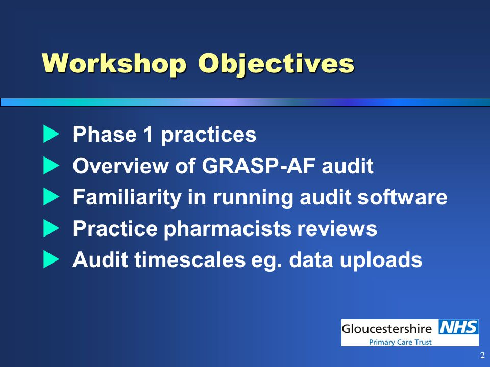 1 GRASP-AF Audit - Intro 8 th July 2010 Mark Gregory