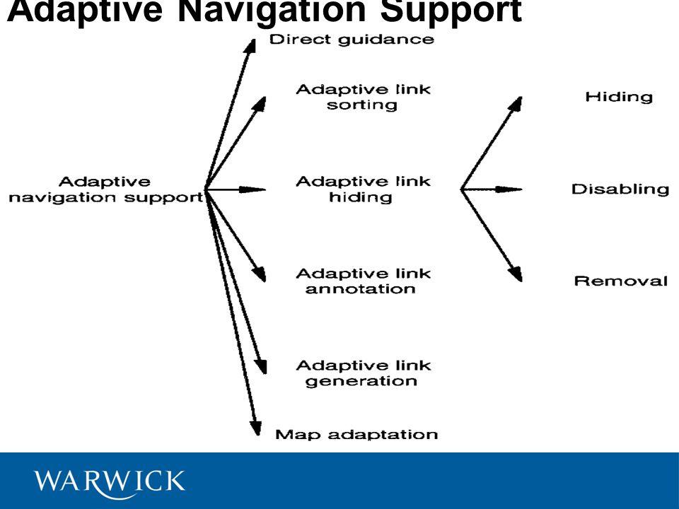 Adaptive Navigation Support