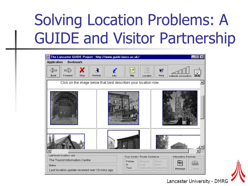 Lancaster University - DMRG Solving Location Problems: A GUIDE and Visitor Partnership