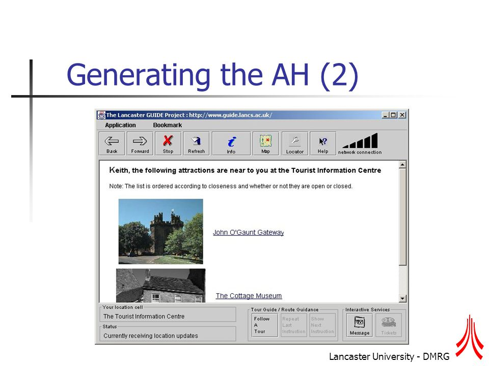 Lancaster University - DMRG Generating the AH (2)