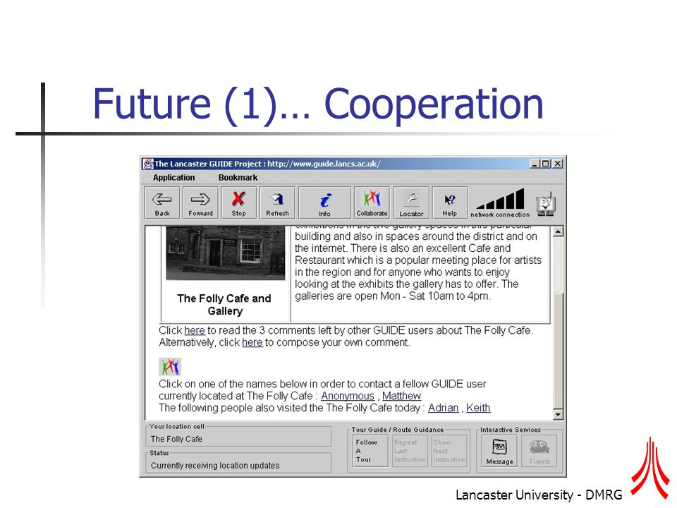 Lancaster University - DMRG Future (1)… Cooperation