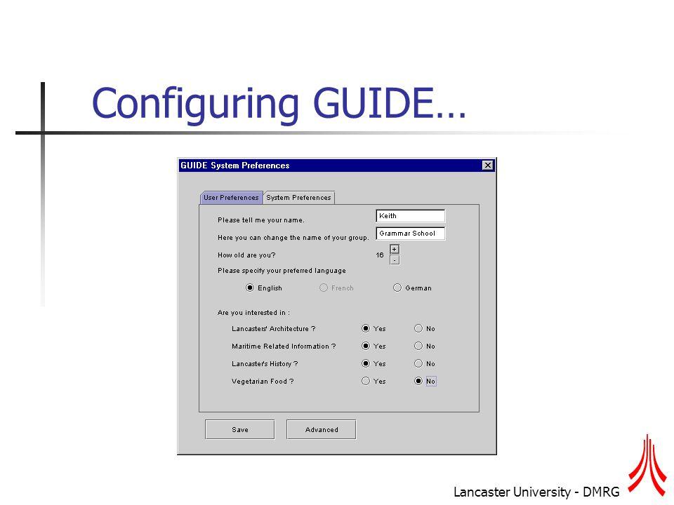Lancaster University - DMRG Generating the AH (2)