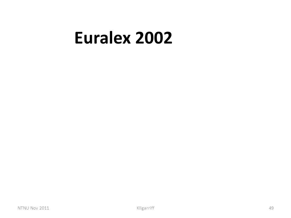 NTNU Nov 2011KIlgarriff49 Euralex 2002