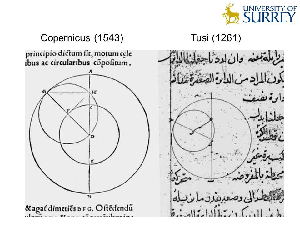Copernicus (1543) Tusi (1261)
