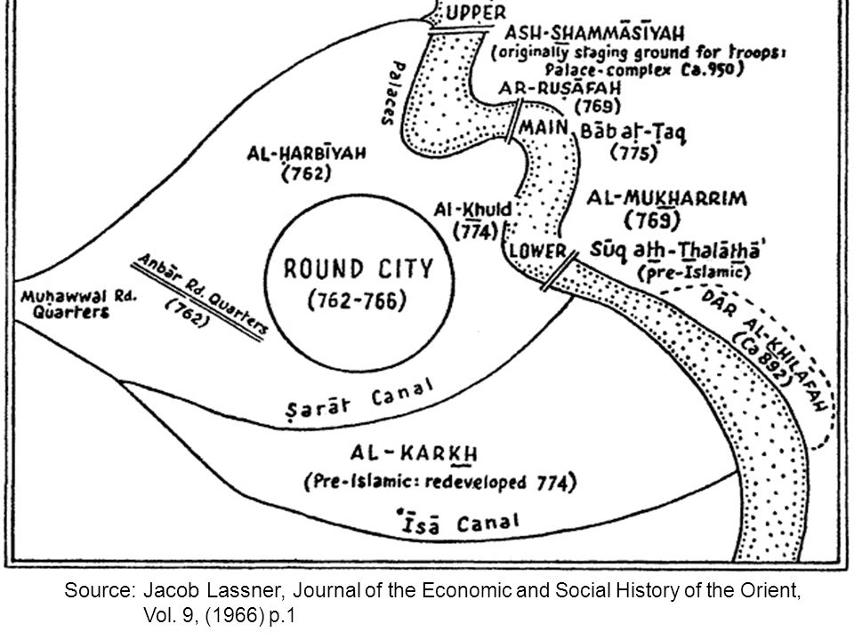 Source: Jacob Lassner, Journal of the Economic and Social History of the Orient, Vol. 9, (1966) p.1
