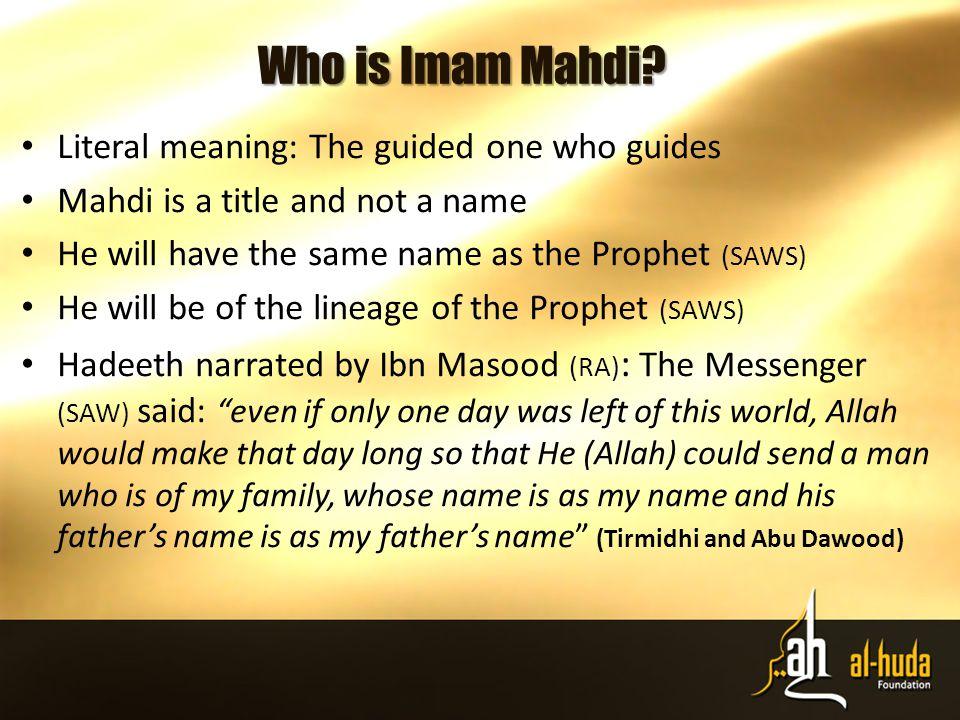 Who is Imam Mahdi.