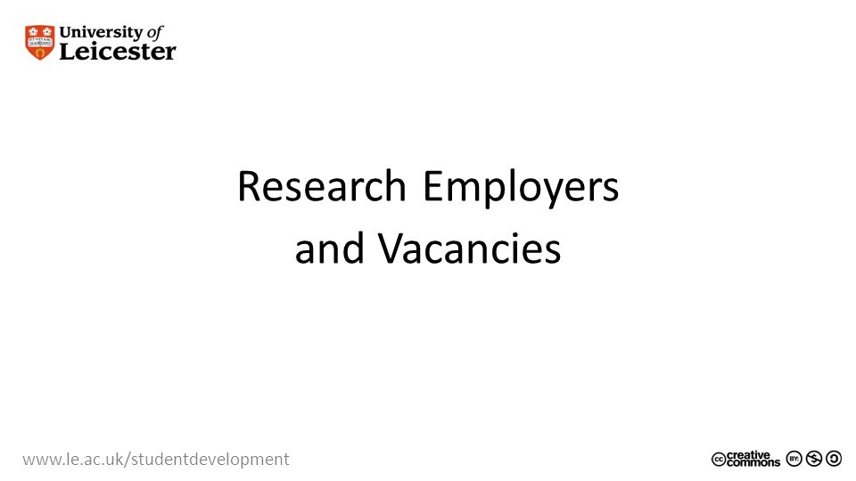 Research Employers and Vacancies