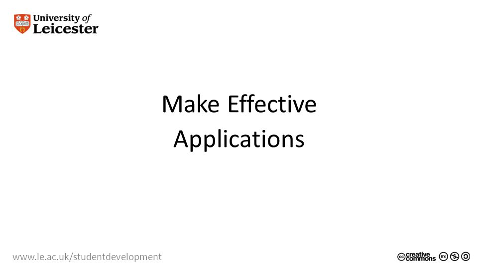 Make Effective Applications